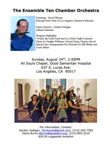 The Ensemble Ten Event is 8/24