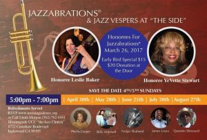 Jazzabration celebrates Leslie Baker and Yevette Stewart